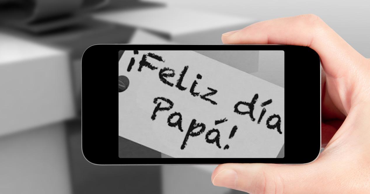 dia del padre con móvil