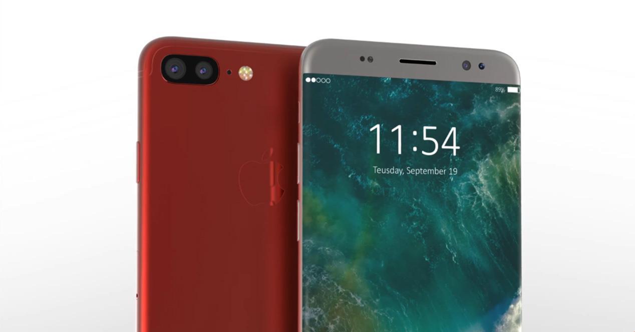 iPhone 8 de color rojo