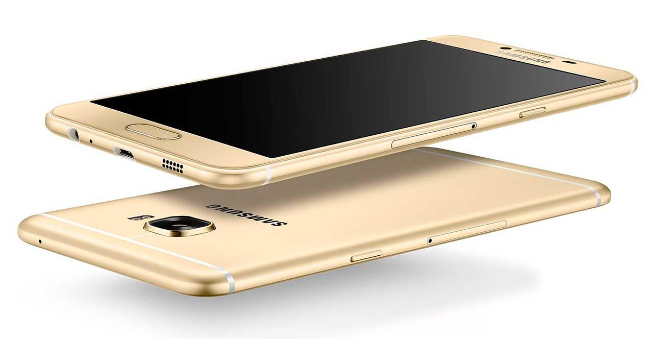 Samsung Galaxy C5 de color dorado