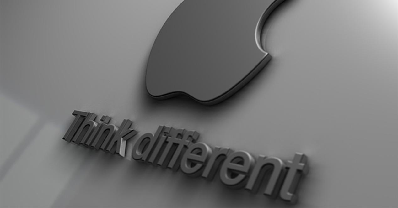 Logotipo de Apple en color gris
