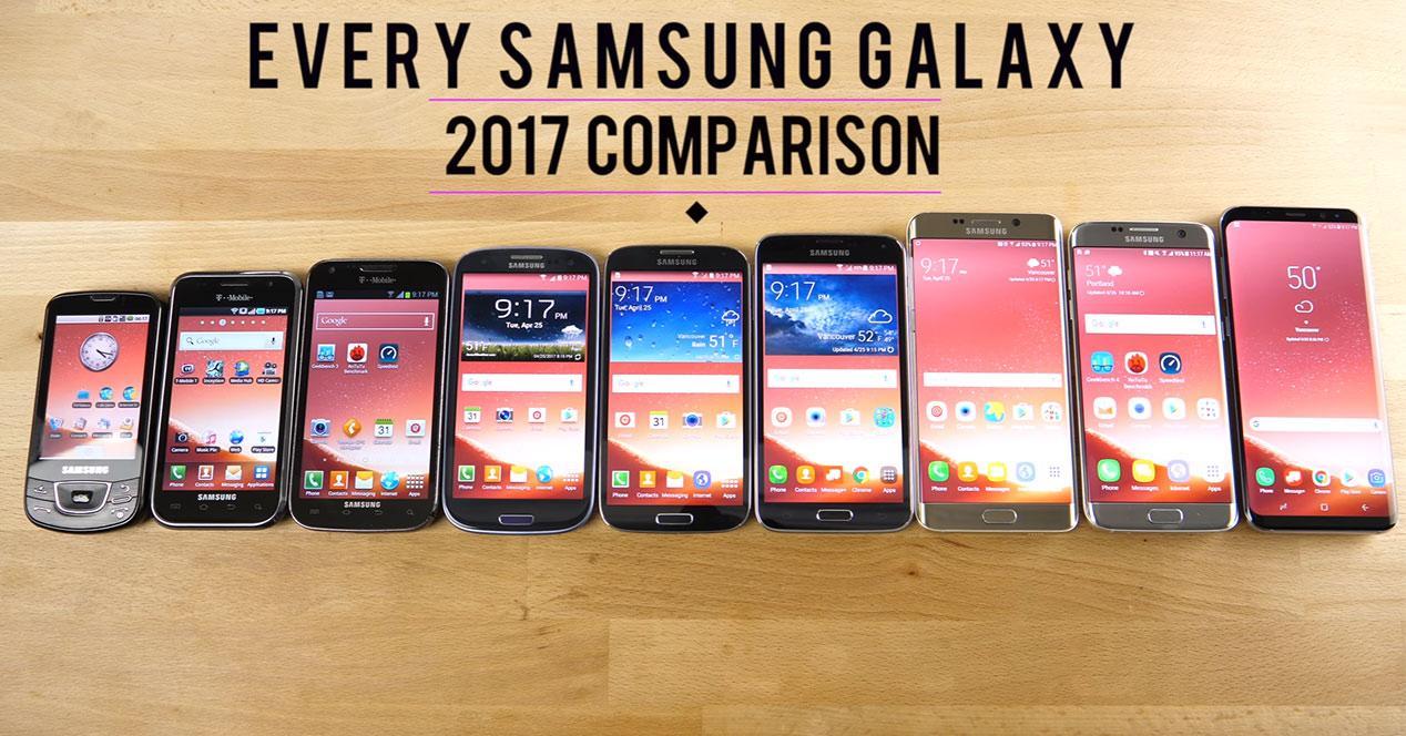 Comparativa en vídeo del Samsung Galaxy S8