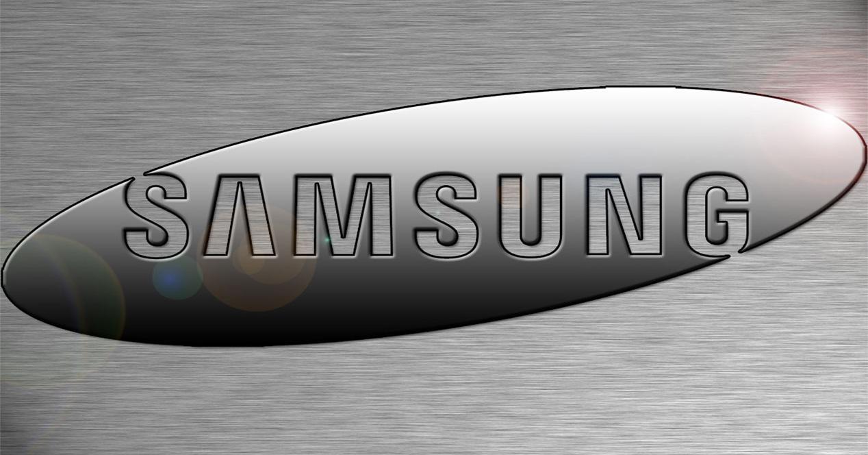 Logo de Samsung en metal