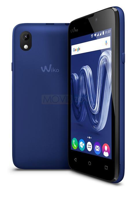 Wiko Sunny Max azul vista lateral y trasera de la cámara