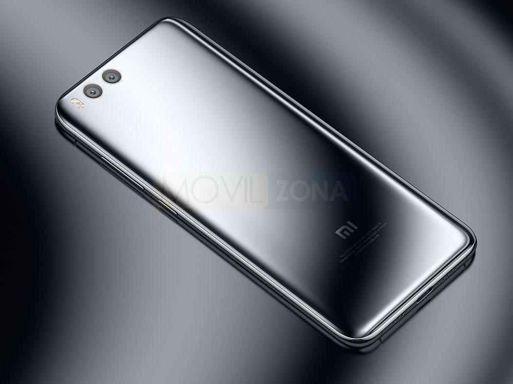Xiaomi Mi 6 plateado vista trasera