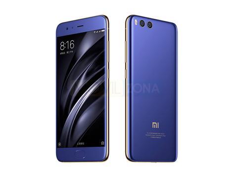 Xiaomi Mi 6 azul vista delante y trasera