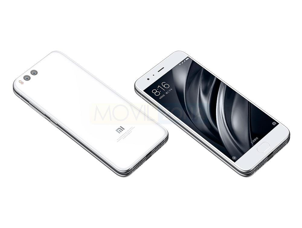 Xiaomi Mi 6 blanco vista delantera y trasera