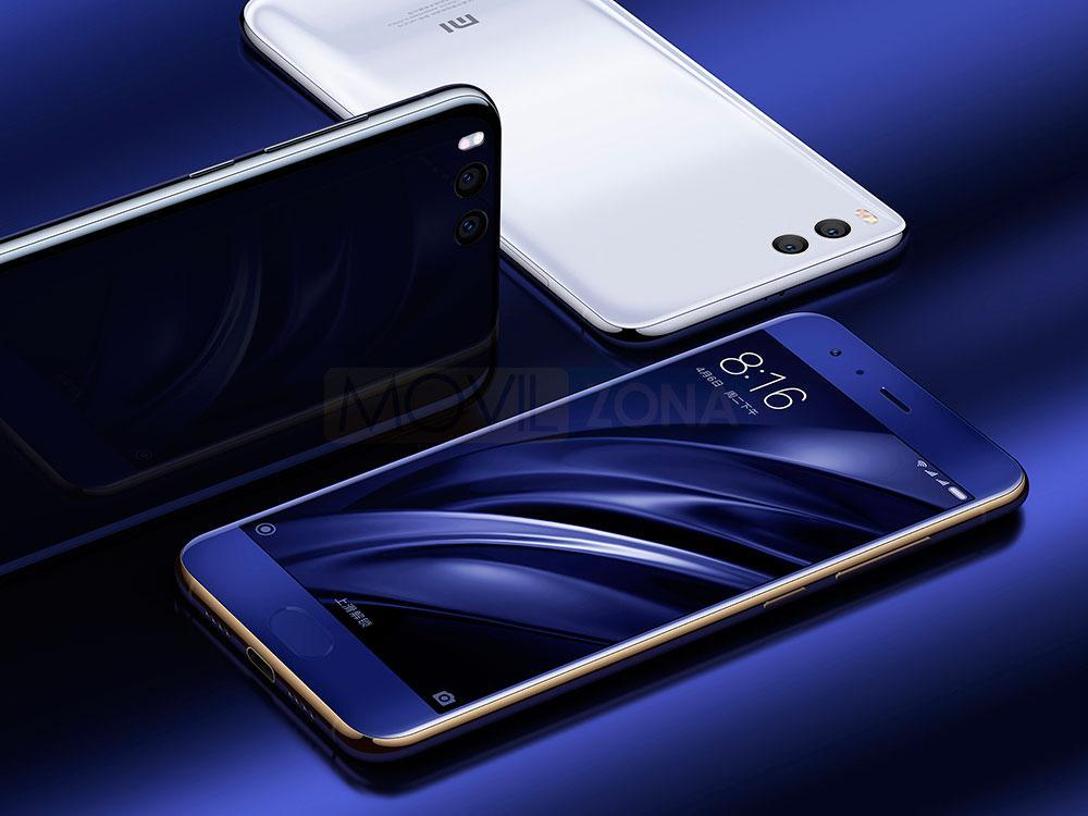 Xiaomi Mi 6 azul y blanco