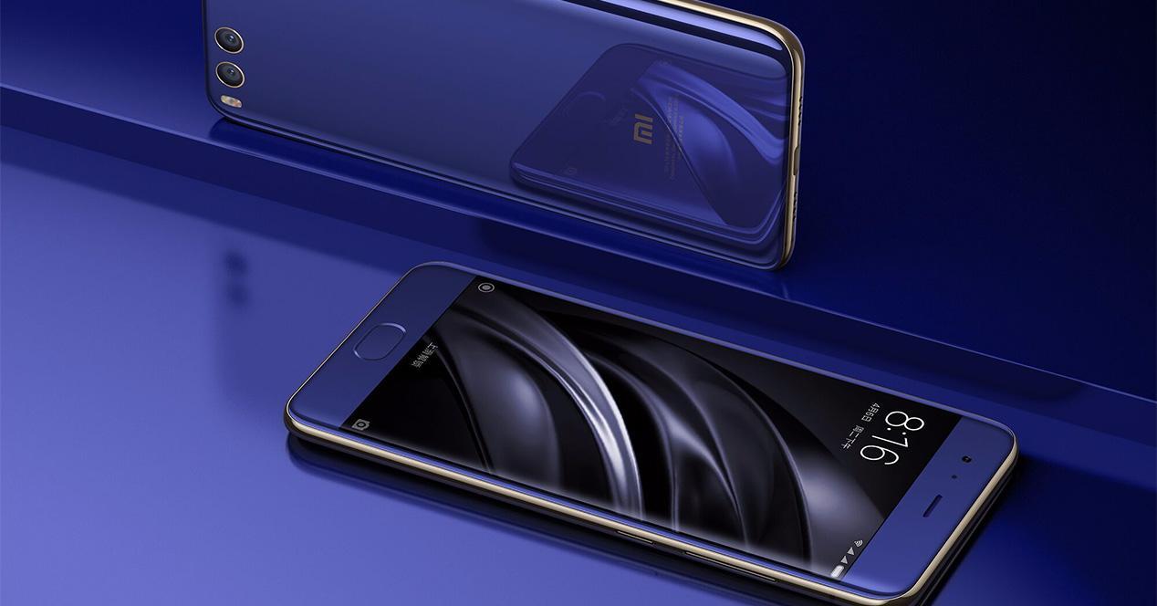 Pantalla del Xiaomi Mi 6 azul
