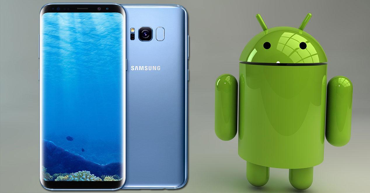 samsung galaxy s8 con muñeco android