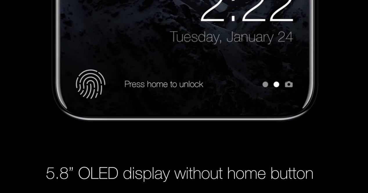 sensor de huellas del iPhone 8