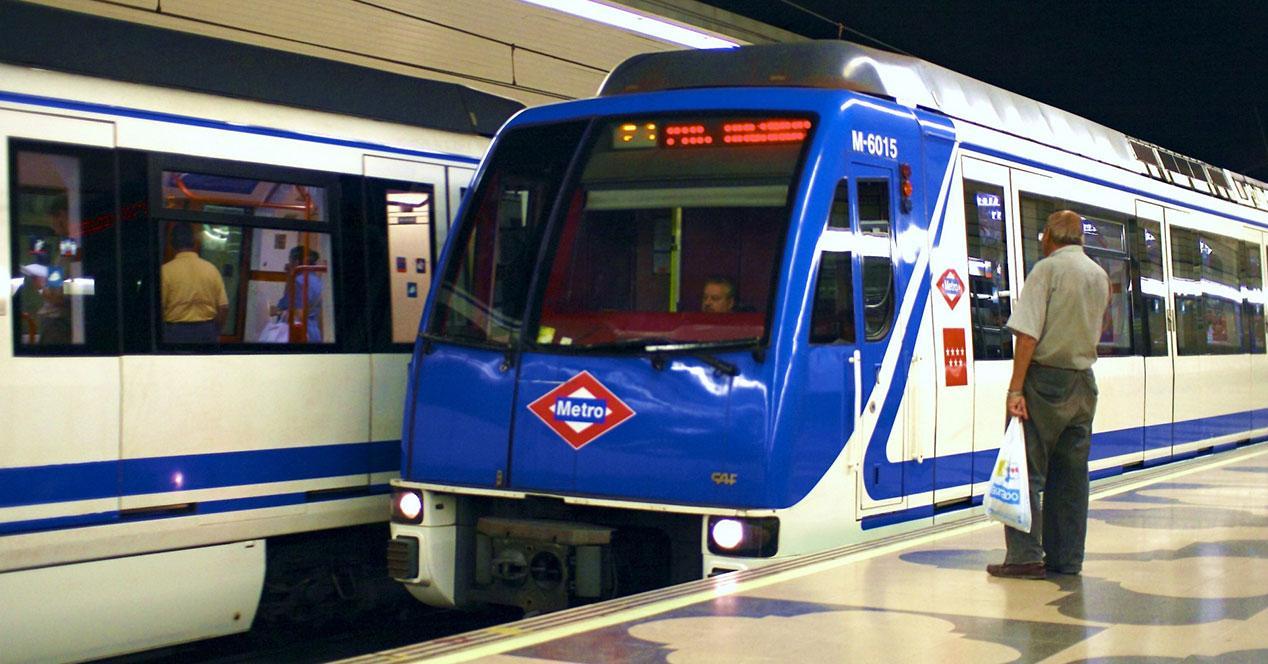 metro de madrid en estación
