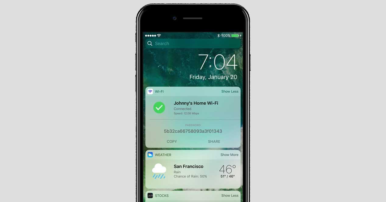 ajustes Wifi del iPhone