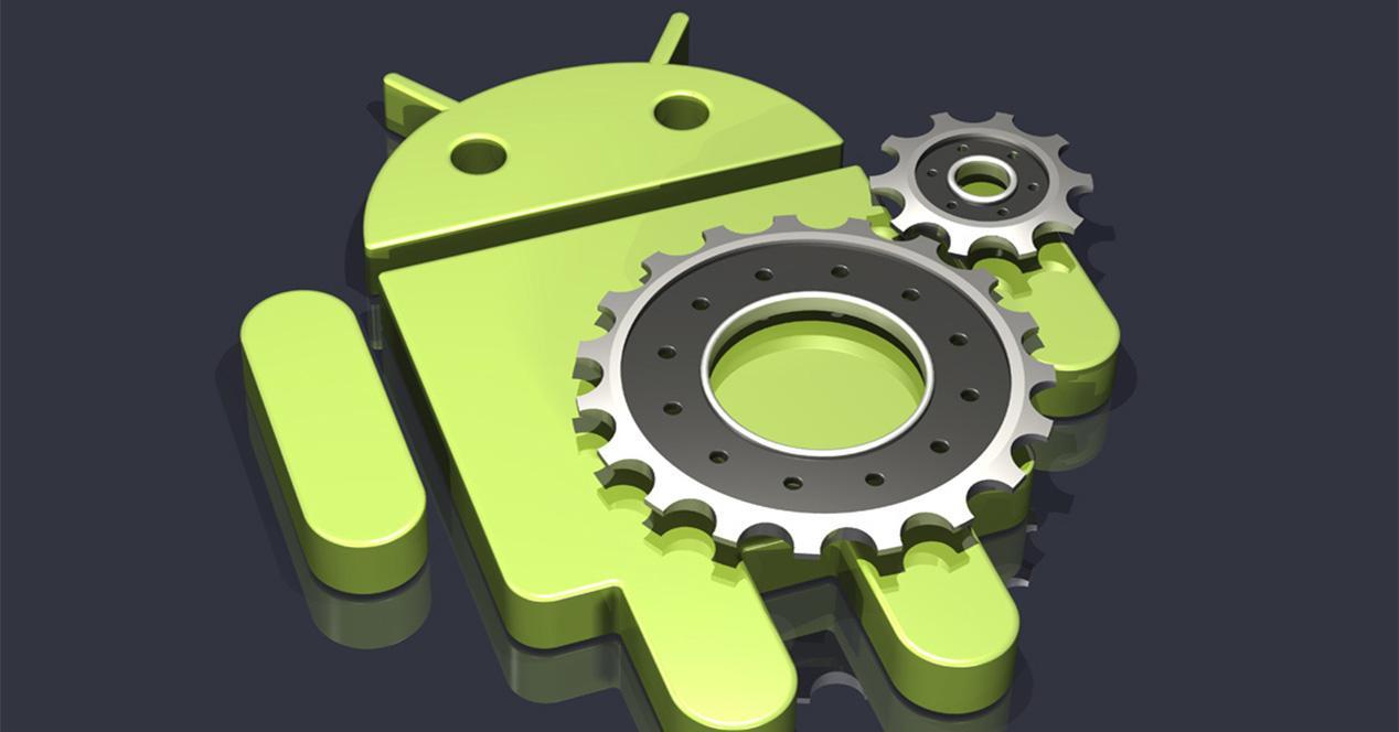 Logotipo de Android con forma de robot verde