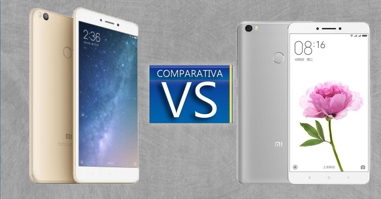 Xiaomi Mi Max 2 comparativa
