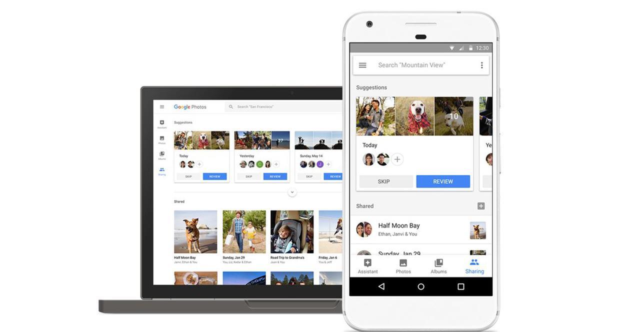 Servicio de Google Fotos