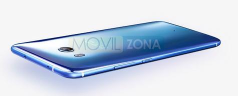 HTC U11 vista de la carcasa azul