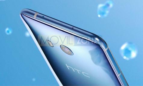 HTC U11 detalle de la cámara digital