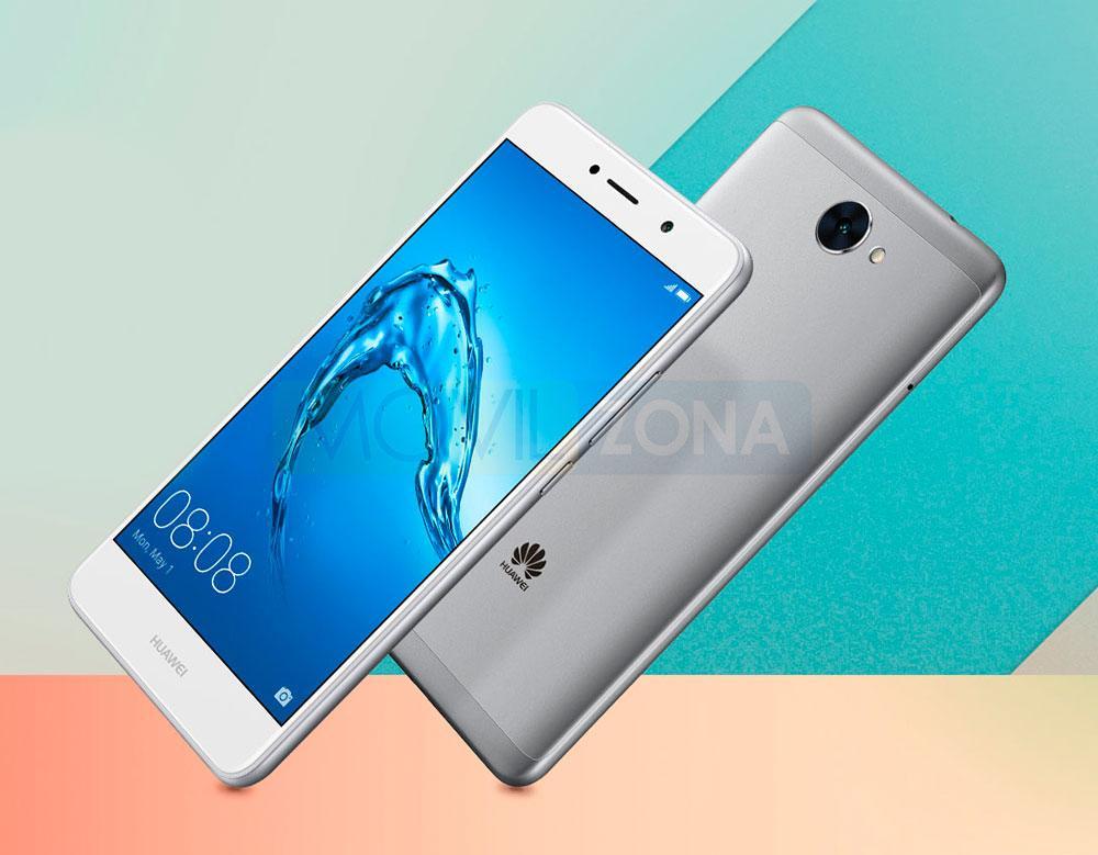 Huawei Y7 blanco y gris