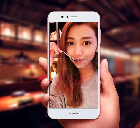 Huawei Nova 2 Plus blanco con chica en portada