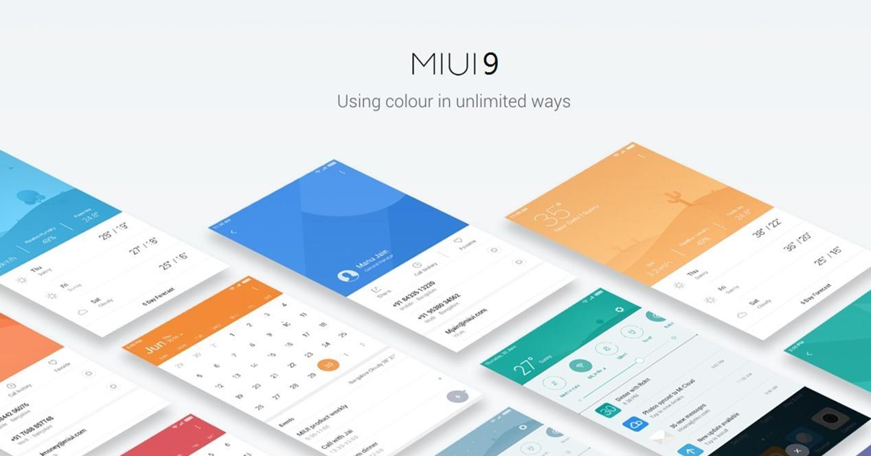 Actualización de MIUI 9