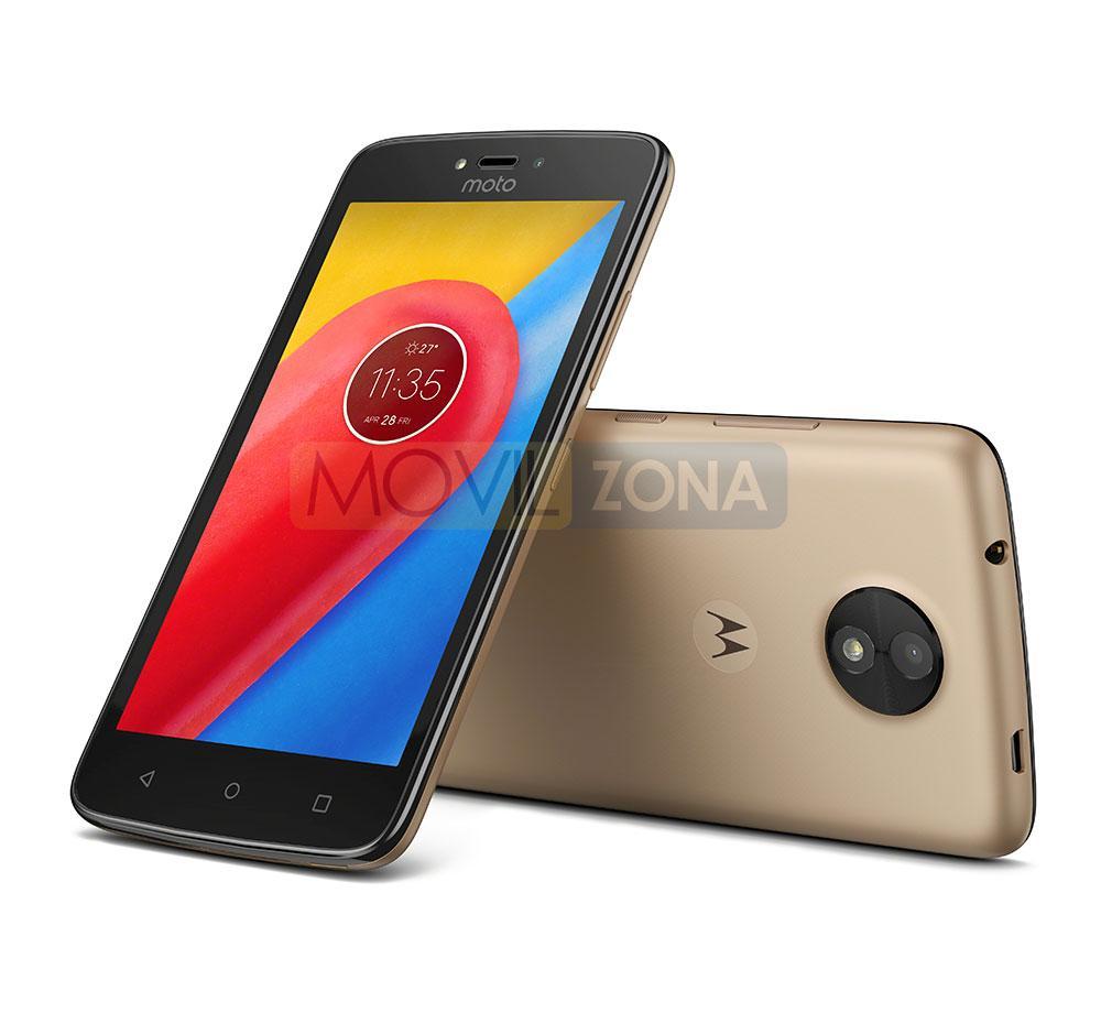 Motorola Moto C negro y marrón