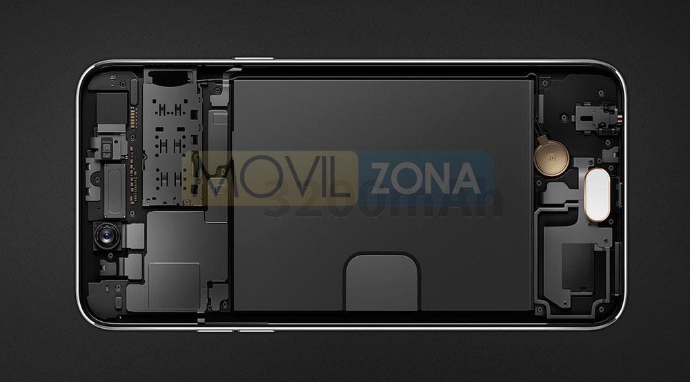 Oppo A77 negro bateria