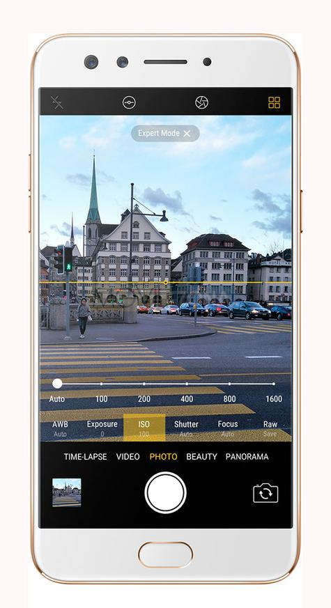 Oppo F3 interfaz de cámara digital