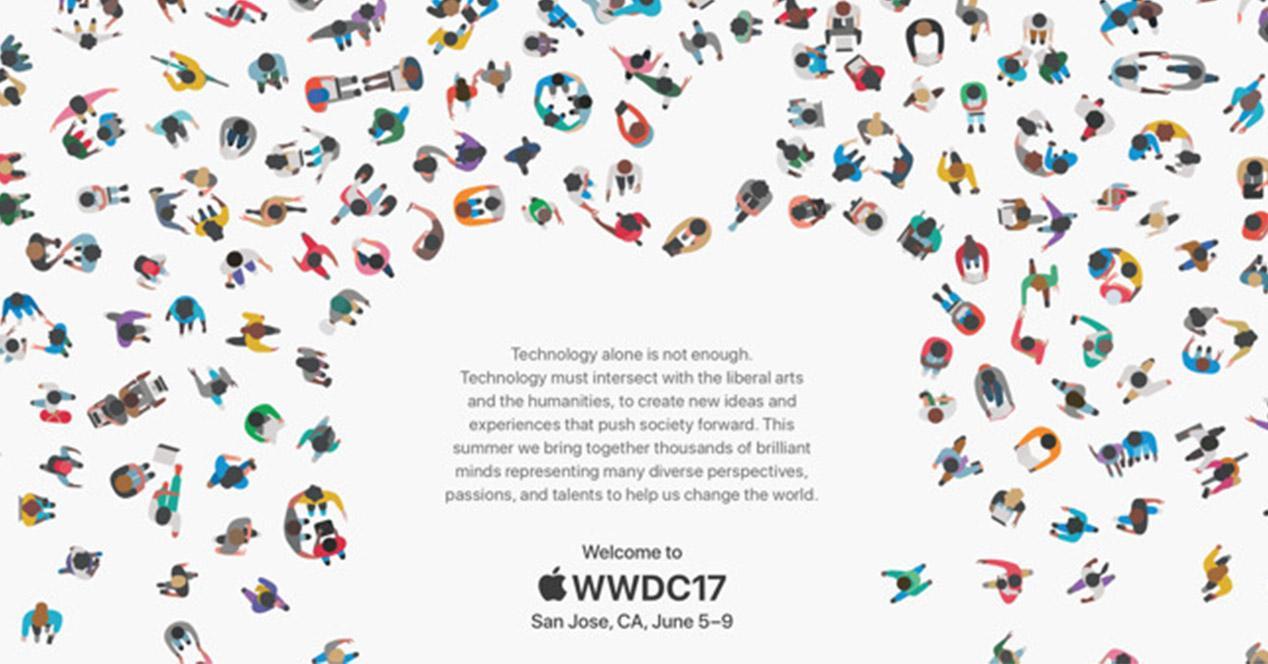 Invitación al evento WWDC 2017 de Apple