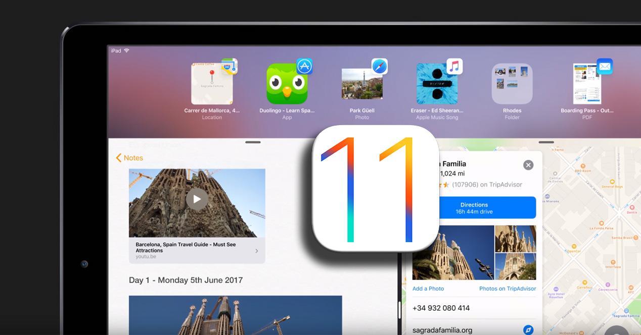 Vídeo conceptual de iOS 11 para iPad