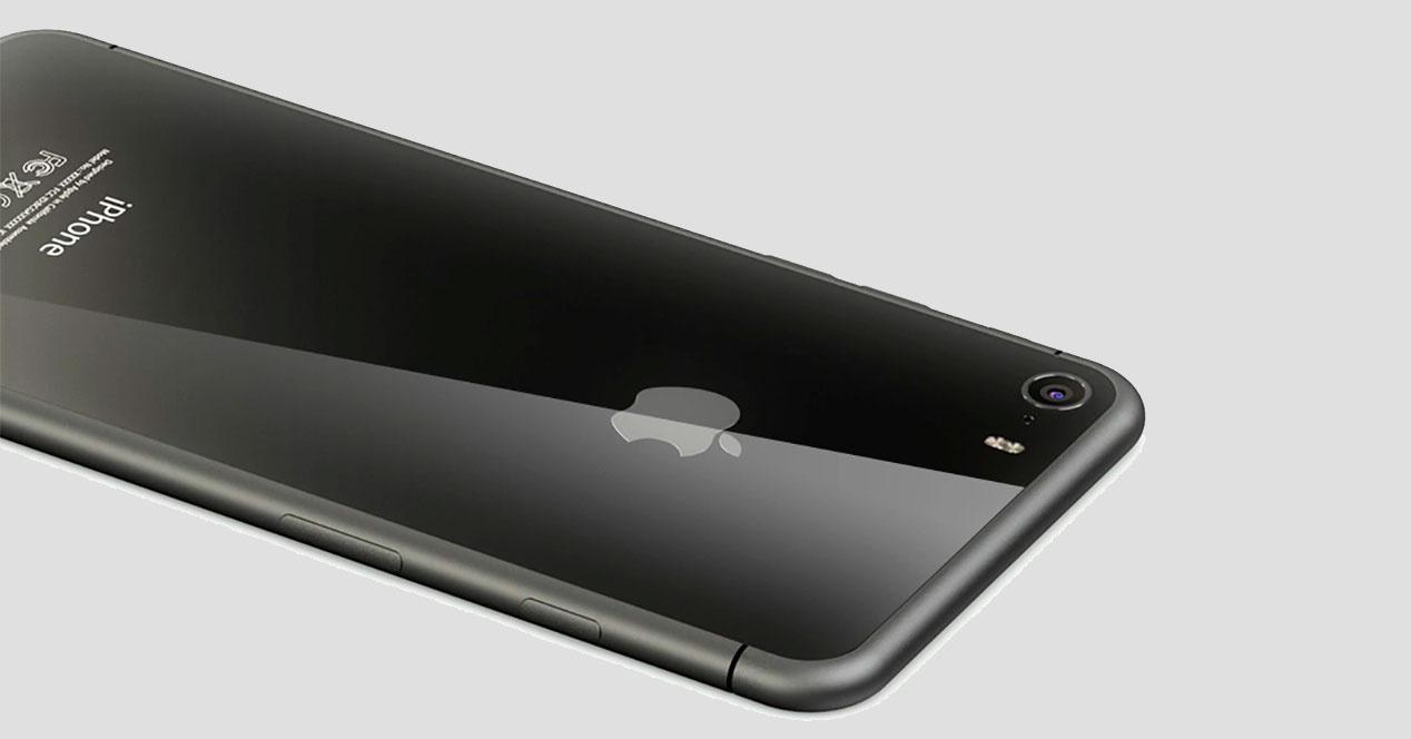 trasera de iphone de cristal