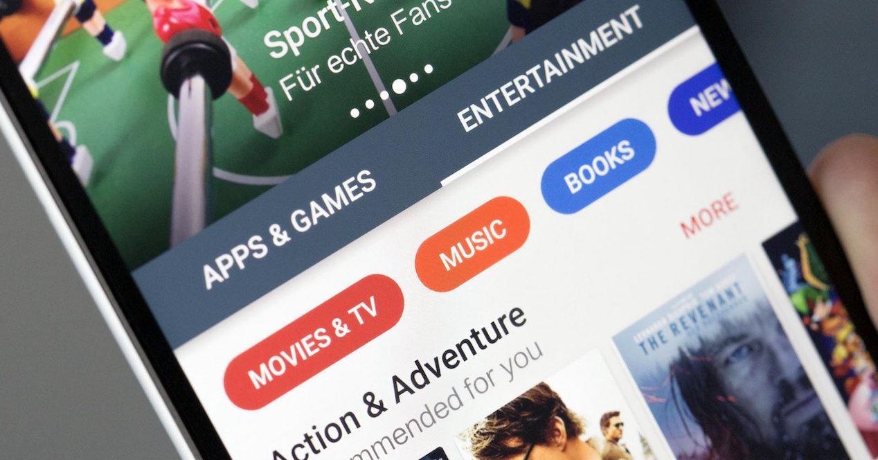Móvil con Google Play