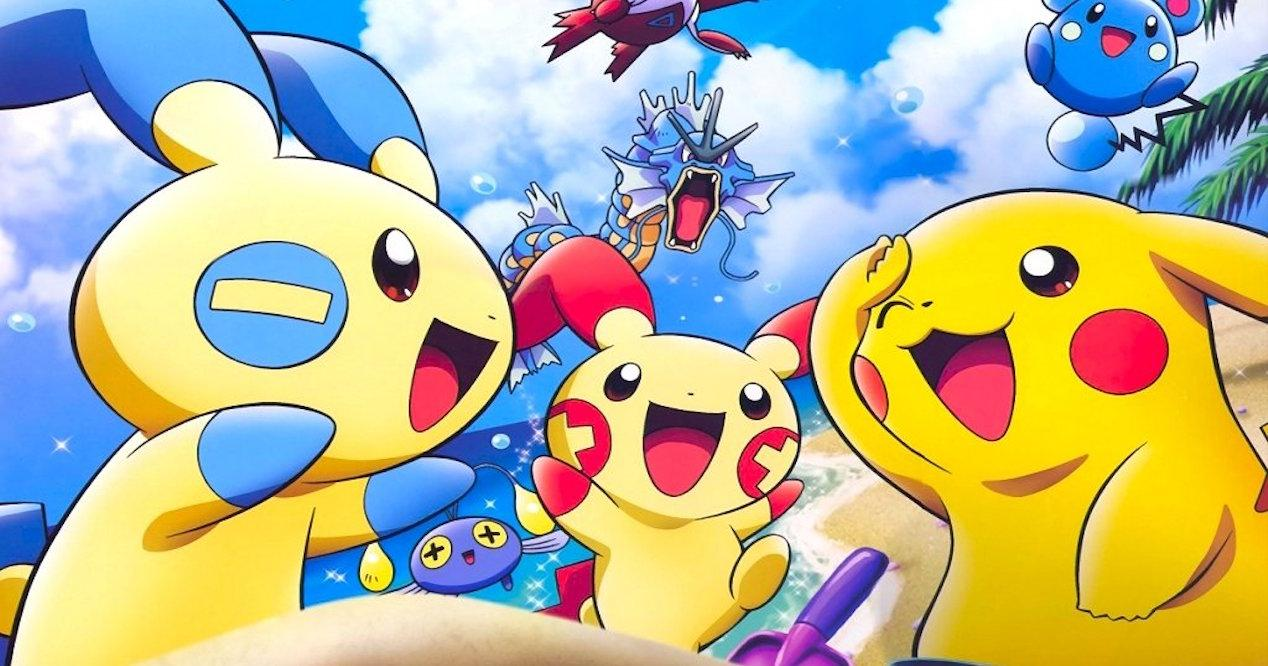 pokemon en playa