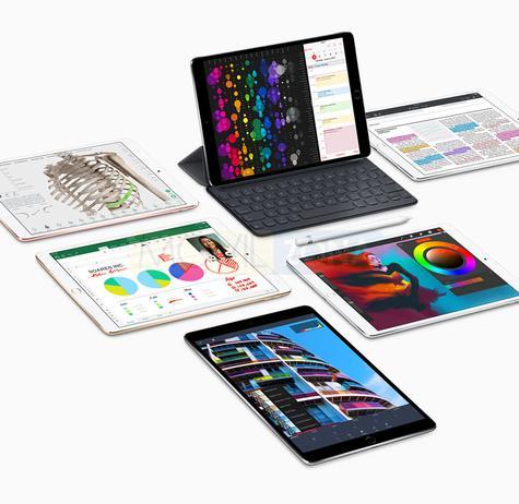 Apple iPad Pro 10.5 en blanco, negro y con teclado