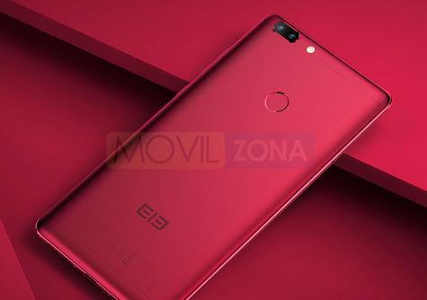 Elephone C1 Max rojo lector de huellas
