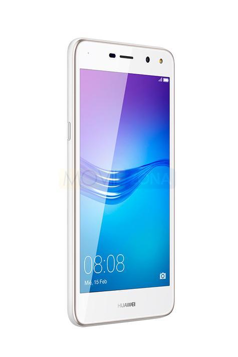 Huawei Y6 2017 vista de perfil de color blanco