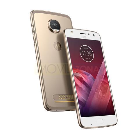 Motorola Moto Z2 Play blanco y dorado