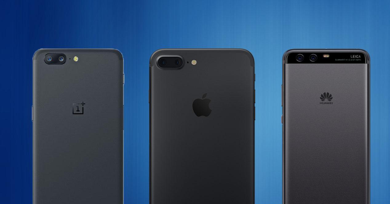 OnePlus 5 vs iPhone 7 Plus vs Huawei P10