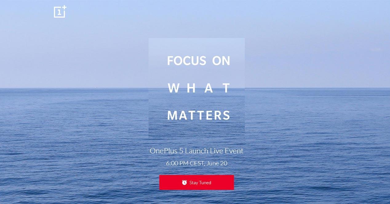 Fecha oficial para la presentación del OnePlus 5
