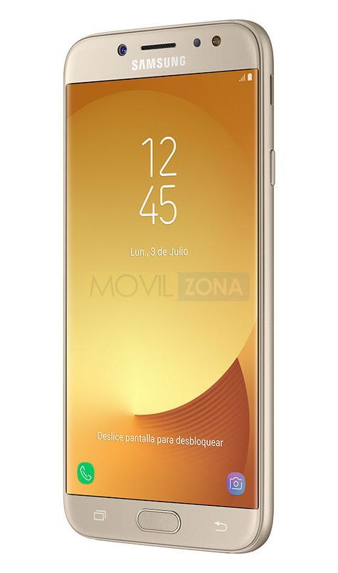 Samsung Galaxy J7 2017 dorado vista lateral