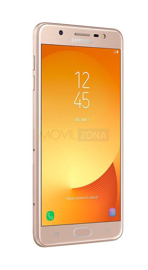 Samsung Galaxy J7 Max dorado de perfil