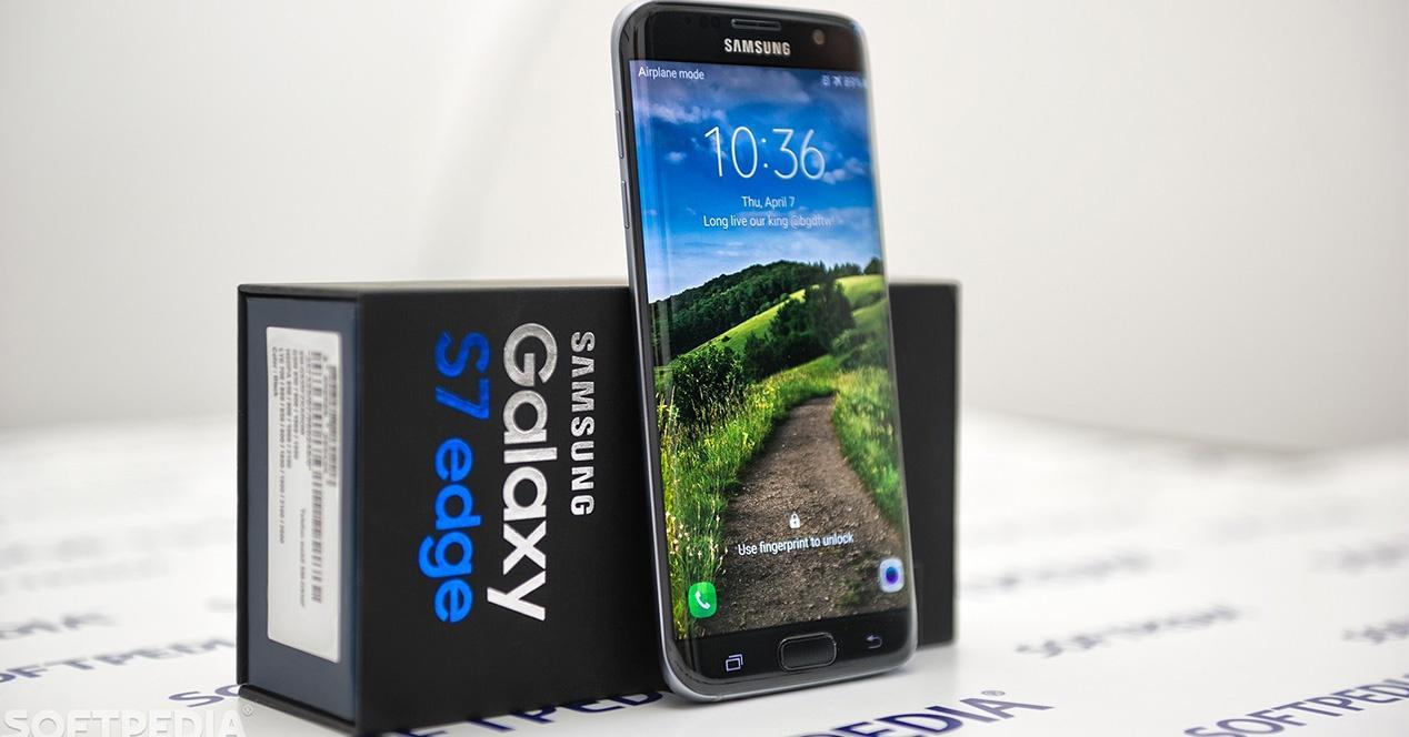caja de ambalaje del Samsung Galaxy S7 Edge