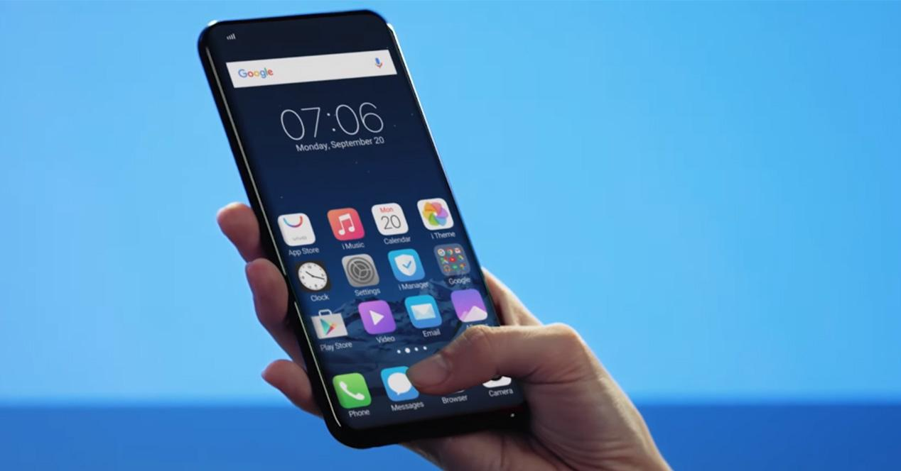 Sensor de huellas bajo la pantalla de smartphone Vivo