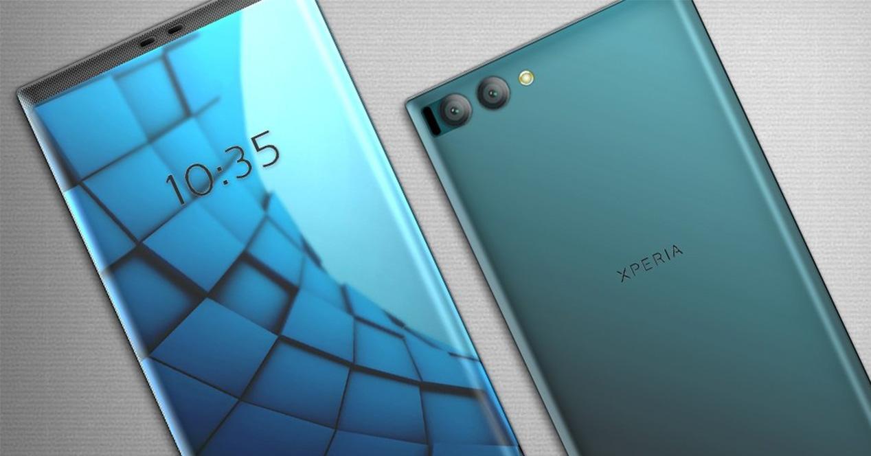 Concepto de diseño de Sony Xperia con pantalla sin marcos