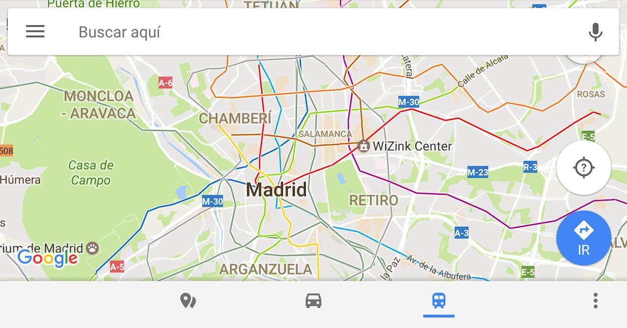 metro google maps