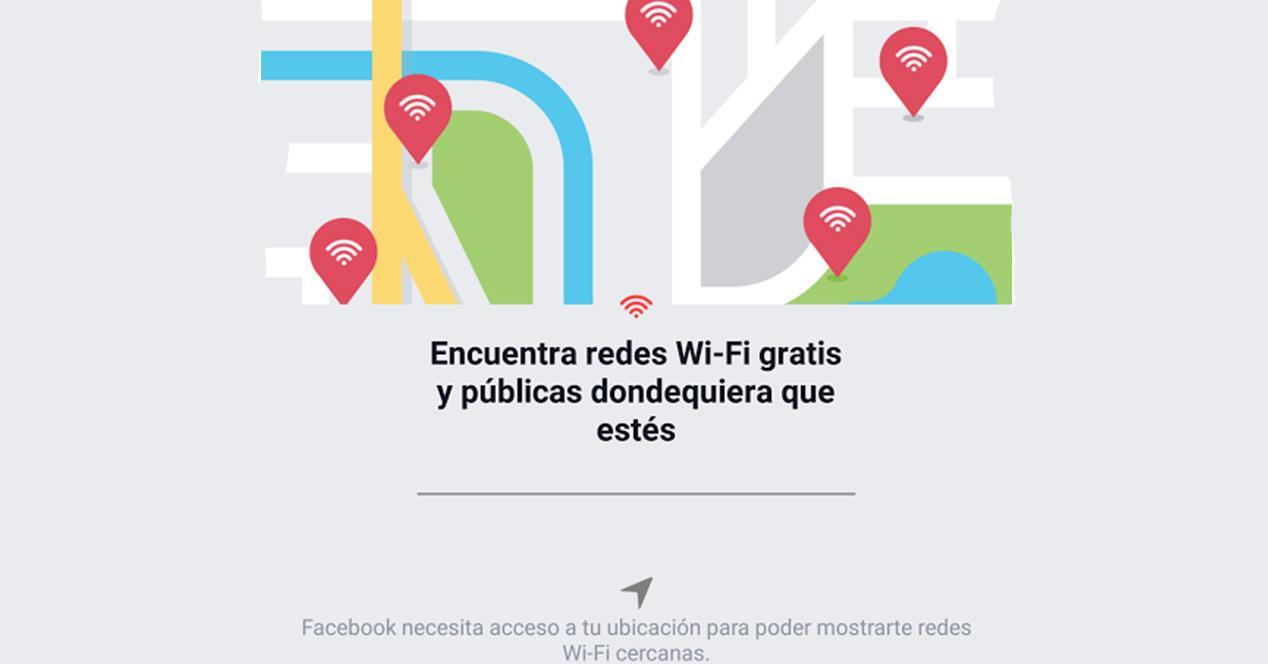 Encontrar conexión WiFi gratis con Facebook