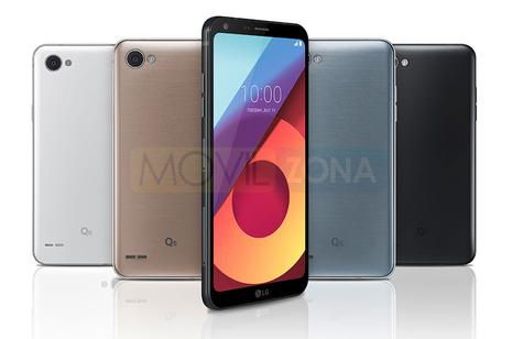 LG Q6 negro vista lateral