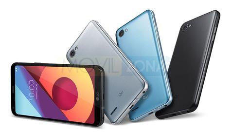 LG Q6 negro, plata y azul
