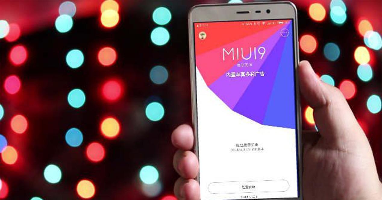 Interfaz de MIUI 9 en un smartphone de Xiaomi