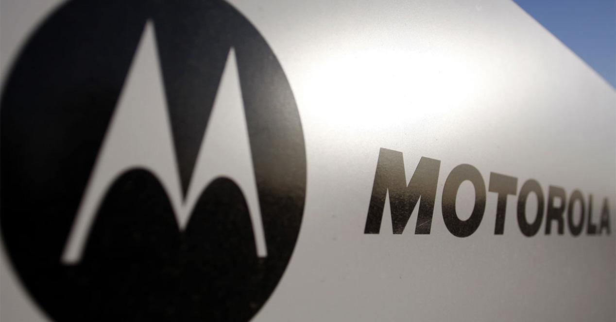 Logo de Motorola en color negro