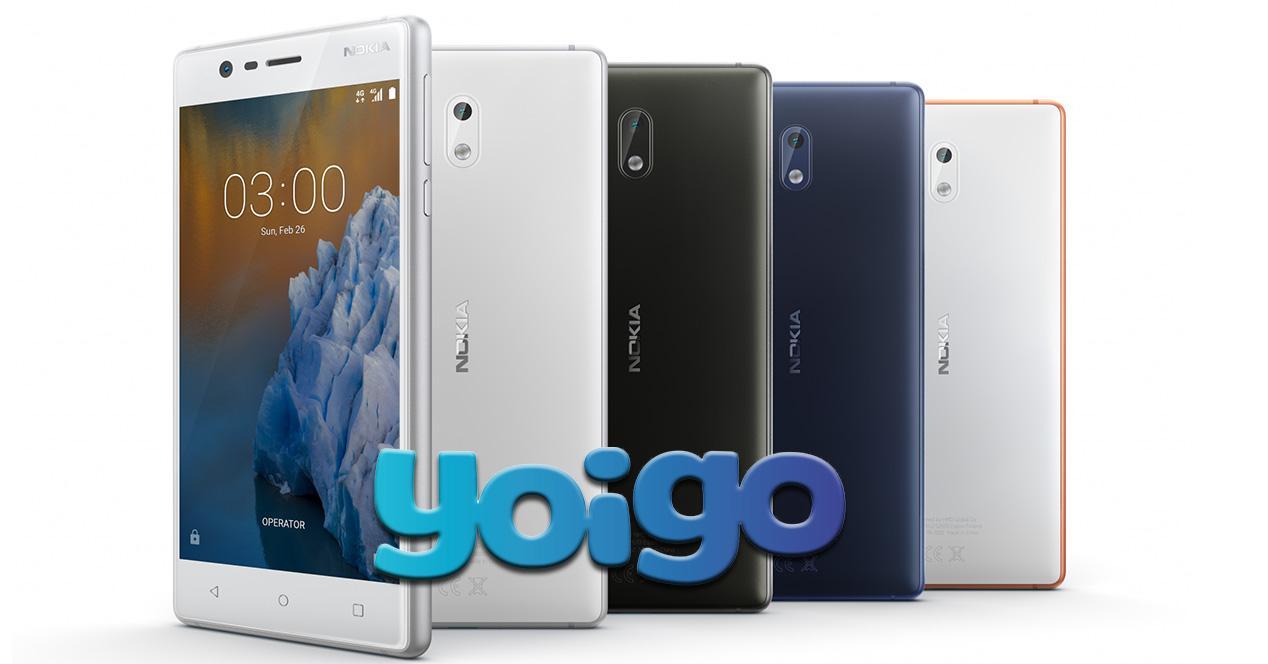 Nokia 3 en el catálogo de Yoigo